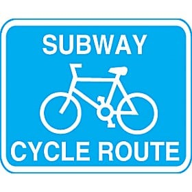 Subway Cycle Route Sign