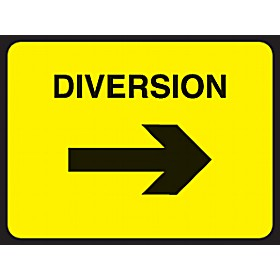 Diversion Right Arrow Sign