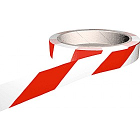 Red/White Adhesive Floor Marking Tapes
