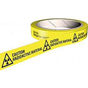 Caution Radioactive Material COSHH And Laboratory Tapes
