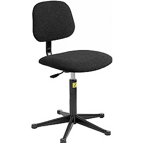 Static Dissipative Fabric Chair With Glides