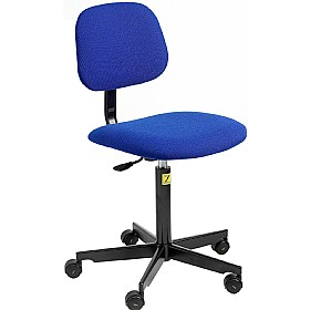 Static Dissipative Fabric Chair With Castors
