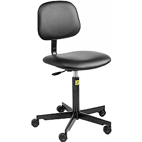 Static Dissipative Vinyl Chair With Castors