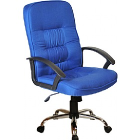 Cadiz Chrome Fabric Manager Chairs