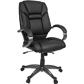 Lichfield Black Enviro Leather Chair