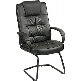 Acadia Enviro Leather Cantilever Chair