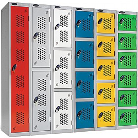 Perforated Door Lockers WIth ActiveCoat