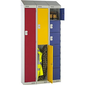 Sloping Top Metric Lockers With Biocote