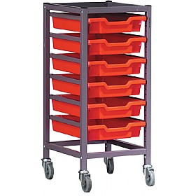 Gratnells Single Column 6 Tray Storage Trolley