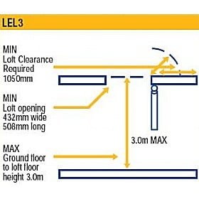 Lyte EasiLoft 3 Section Loft Ladders
