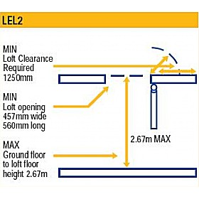 Lyte EasiLoft 2 Section Loft Ladder