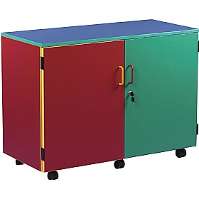 Multi Coloured Mobile Storage Cupboard