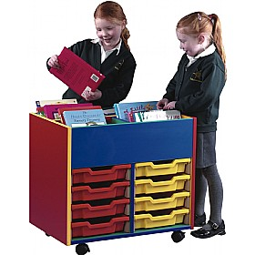 Multi Coloured 8 Tray Shallow Mobile Kinderbox