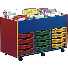Multi Coloured 12 Tray Shallow Mobile Kinderbox
