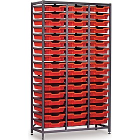 Gratnells 3 Column High 51 Tray Storage Rack