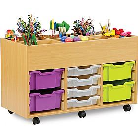 art storage 8 tray kinderbox unit cheap art storage 8. Black Bedroom Furniture Sets. Home Design Ideas