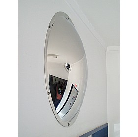 Anti Vandal Stainless Steel Subway Mirror