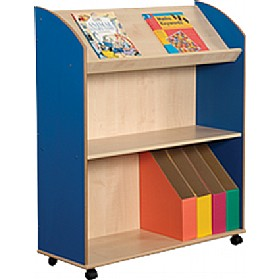 Two Shelf & Display Bookcase Unit