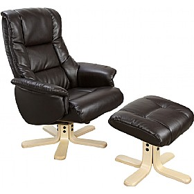 Illinois Leather Recliner Black