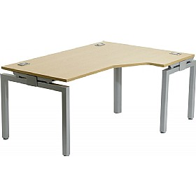 Linear Single Starter Ergonomic Bench Desk £345 - Office Furniture