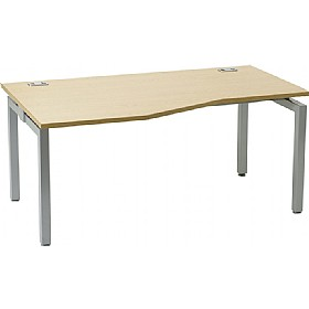 Linear Single Starter Wave Bench Desk £263 - Office Furniture