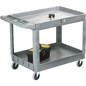 2 Tray Plastic Service Trolley