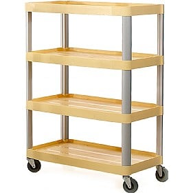 4 Shelf Trolleys