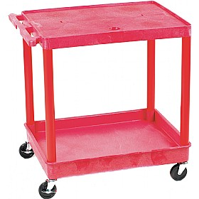 2 Shelf Service Trolley With Coloured Legs and Shelves