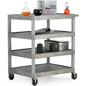 4 Shelf Grey Service Trolley