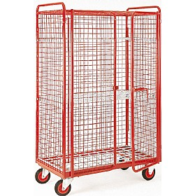 Narrow Aisle Distribution Trucks - 4 Sided Security Mesh With Shelf