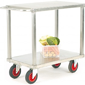 Heavy Duty Stainless Steel 2 Shelf Trolley