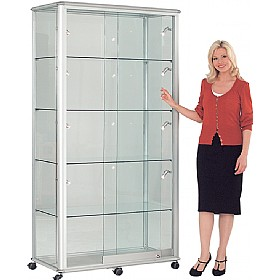 Shield Wide Tower Display Cabinet