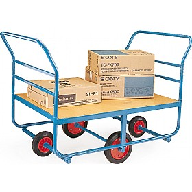 4 Wheeled Timber Decked Balanced Truck £562 - Materials Handling