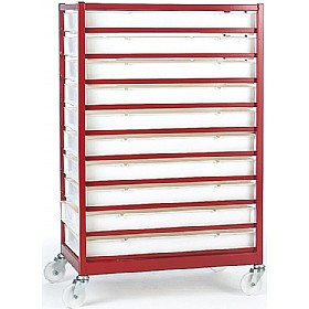 10 Tray Mobile Rack