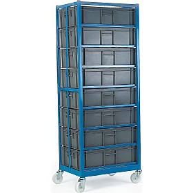 8 Container Mobile Rack