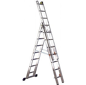 Luxe 3 Way Aluminium Step Ladder Cheap Luxe 3 Way