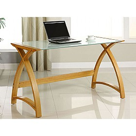 Spectrum Oak Real Wood Veneer Laptop Desk