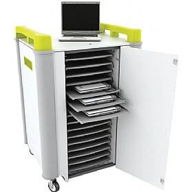 LapCabby Connect 16H - 16 Horizontal Laptop Store and Charging Trolley