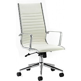 Premio Ivory Leather Faced Manager Chair Cheap Premio