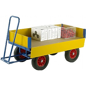 Small Turntable Truck with Drop Down Side Panels