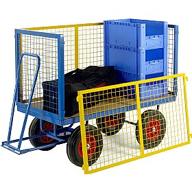 Small Turntable Truck with Mesh Cage Supports