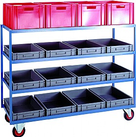 Blue Container Shelf Trolley