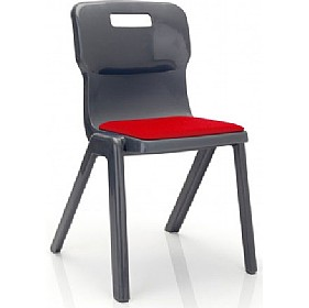 Titan One Piece Classroom Chair With Seat Pad