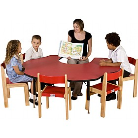 Adjustable Height Flower Top Teachers Table