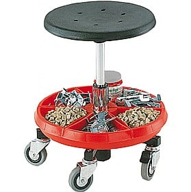 Bott Cubio Low Mobile Work Stool Red Tray