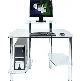 Glacier Glass Computer Desk