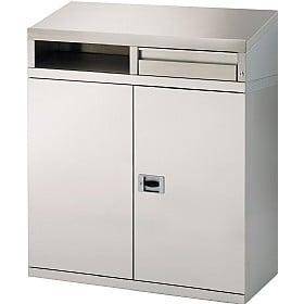 Stainless Steel Desk Cabinet