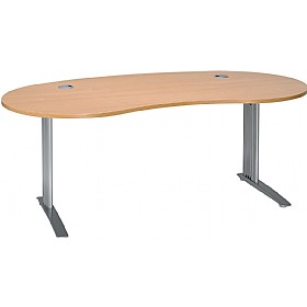 Linear cantilever kidney shaped desks cheap linear cantilever kidney shaped desks from our - Kidney shaped office desk ...