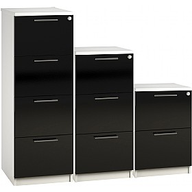 Reflections Black Filing Cabinets