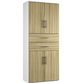 Reflections Light Olive Twin Double Door Combination Cupboard With Drawers